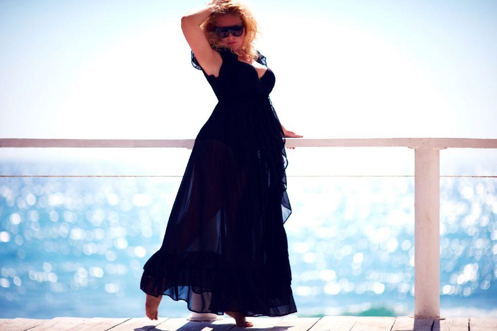 robe longue femme ronde